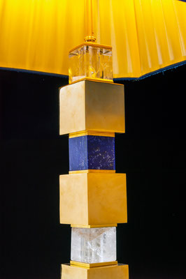 ROCK CRYSTAL AND LAPIS LAZULI LAMPS BY ALEXANDRE VOSSION