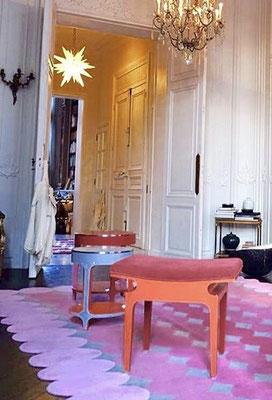 ROCK CRYSTAL STAR CHANDELIER .PARIS
