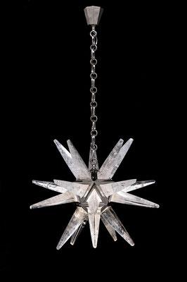 rock Crystal chandelier.Alexandre VOSSION DESIGN