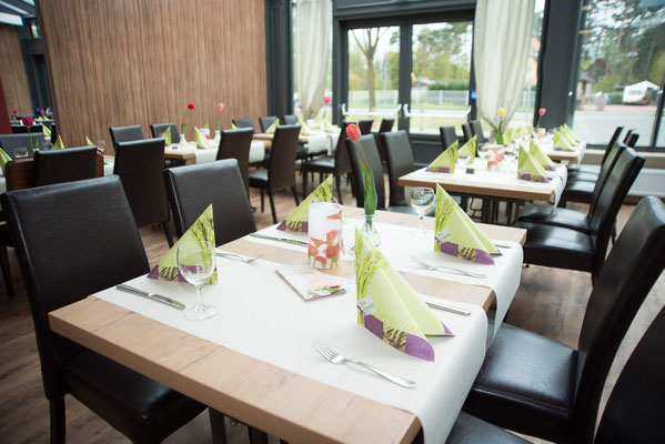 Mittagstisch im Wintergarten vom Landkreis Celle