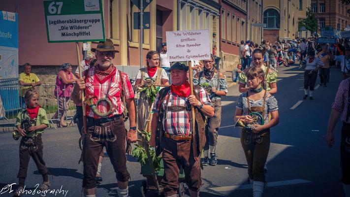"""Jagdhornbläsergruppe """"Die Wilderer"""" aus Mönchpfiffel"""