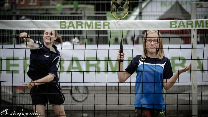 auf der Sportmeile der Barmer - Badminton