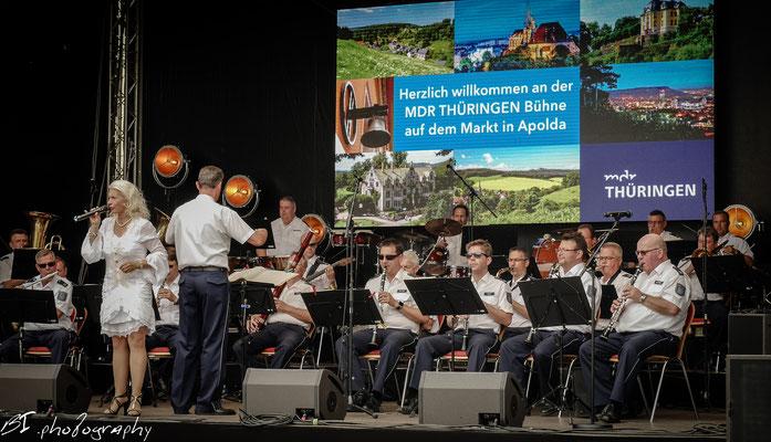 auf dem Markt - Polizeimusikkorps Thüringen