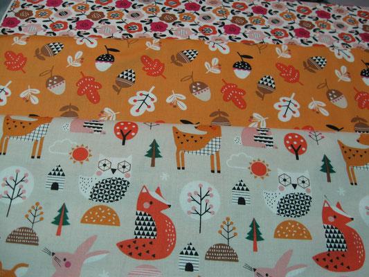 Les tissus Noël et Japon de Lulu Coquelicot, boutique de laines et tissus à Romorantin, Sologne