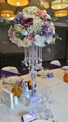 Композиции из искусственных цветов на столы гостей