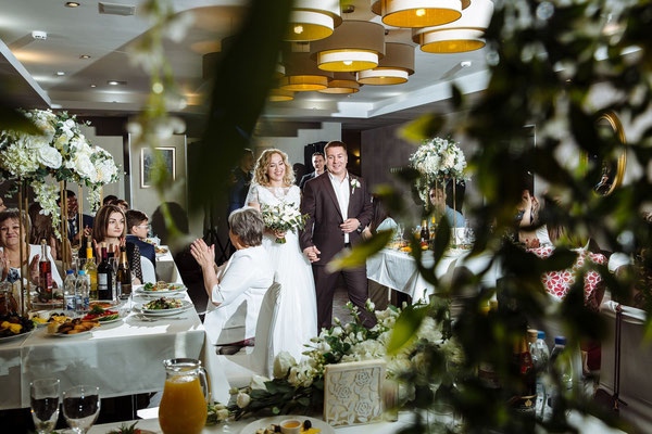 Начало свадебного банкета