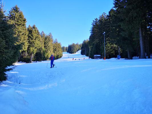 Skifahren und Touren gehen