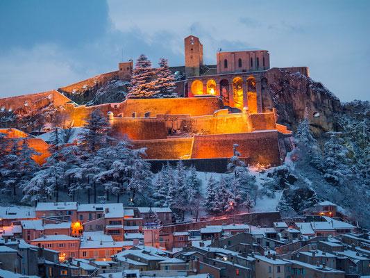 Sisteron en hiver