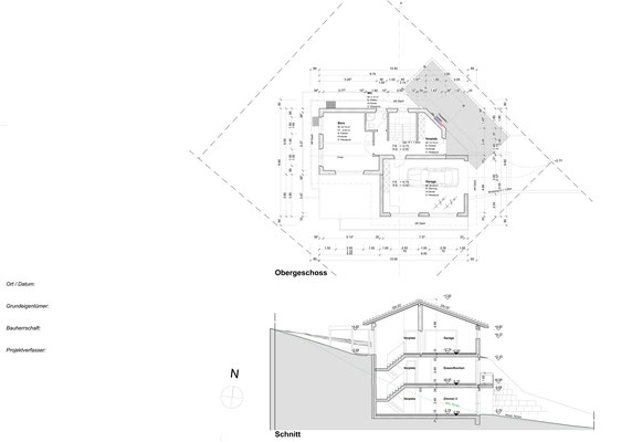 Obergeschoss + Schnitt