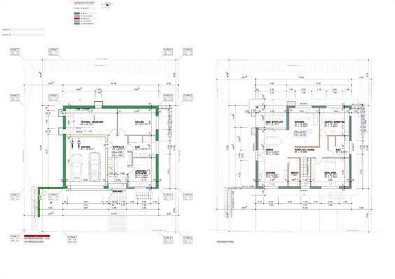 Untergeschoss/Erdgeschoss
