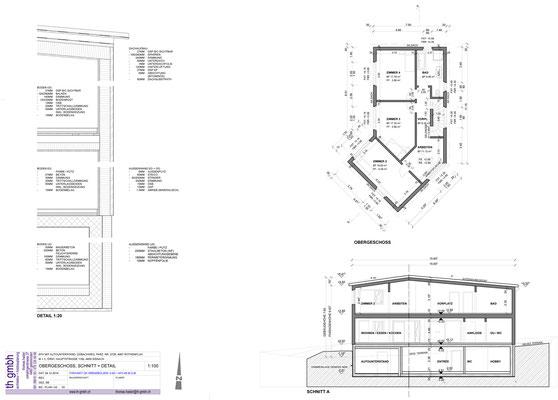 Obergeschoss, Schnitt + Detail