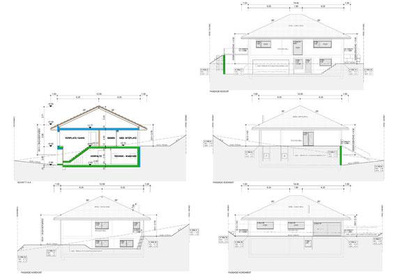 Schnitt / Fassaden