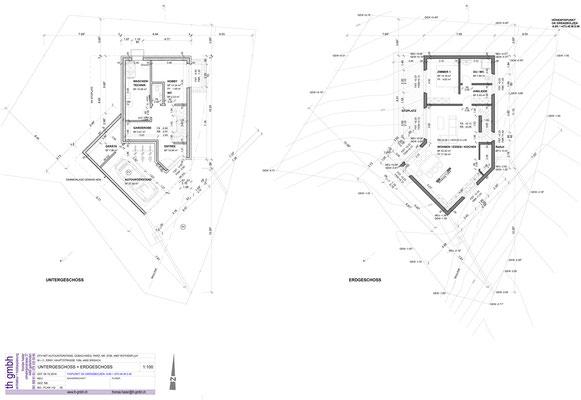 Untergeschoss + Erdgeschoss