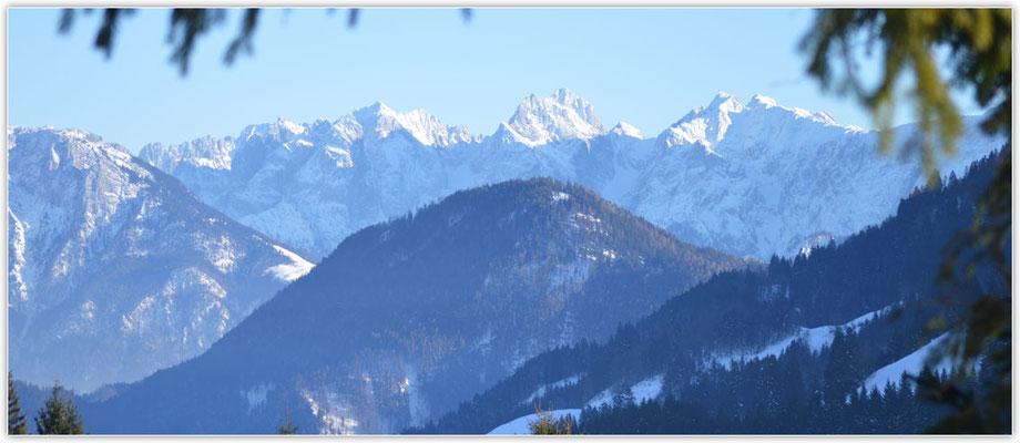 Blick vom Sudelfeld zum  Kaisergebirge