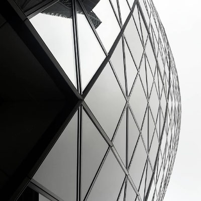 30 St Mary Axe London Curved Facade Photo by Heidi Mergl Architect