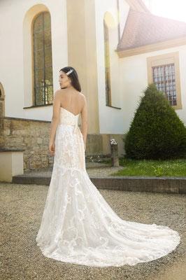 Hochzeitskleid Standesamtkleid aus Spitze, Meerjungfrau