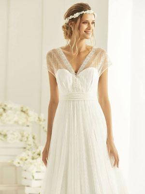 A-Linie Brautkleid aus hochwertiger Spitze Vintage