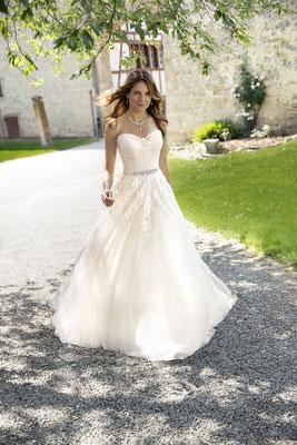 Prinzess-Kleid Tüll und Spitze blush