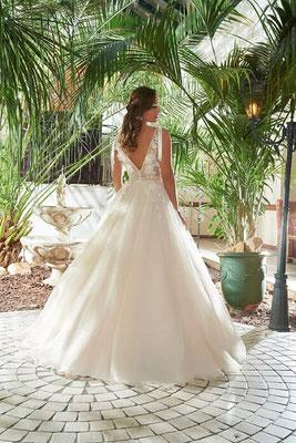 Brautkleid Prinzessin transparent, Spitze, viel Glitzer