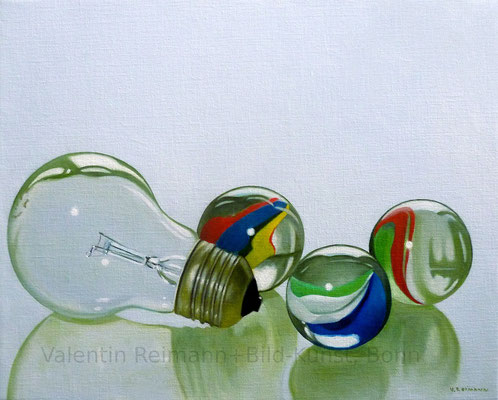 """""""Eine Glühbirne""""  40x50cm Öl auf Leinwand"""