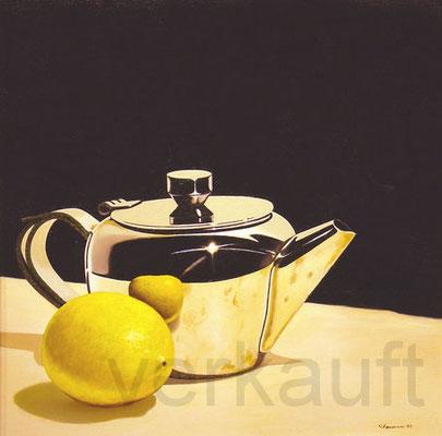 """""""Zitrone"""" 70x70cm Öl auf Leinwand     verkauft"""