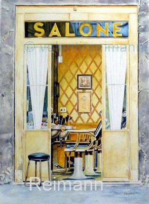 """""""Salone"""" ca 30x40cm Aquarell"""