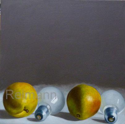 """""""Vier Birnen"""" 70x70cm Öl auf Leinwand"""