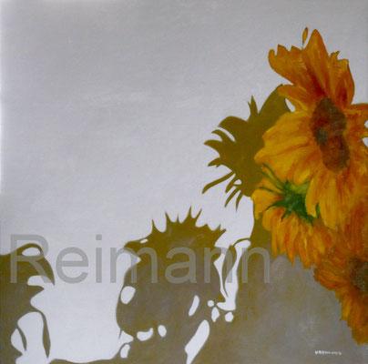 """""""Gelbe Blüten"""" 70x70cm Öl auf Leinwnd"""
