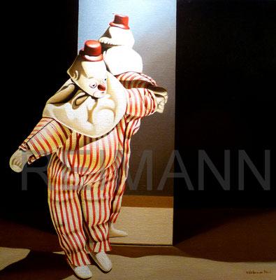 """Clown"" 70x70cm Öl auf leinwaand"