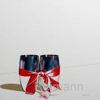 """""""Verbunden"""" Öl auf Leinwand  70x70cm - Zur Zeit bei:     Kunsthaus-Maxart   Maxstraße 21   97346 Iphofen"""
