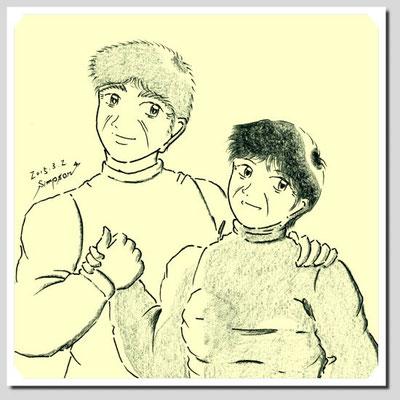 現在のアルバート(73)とシヅ子(70)