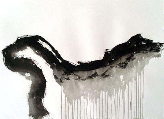 Ohne Titel, 50 x 70 cm, Tusche auf Papier, Susanne Renner-Schulz, 2014