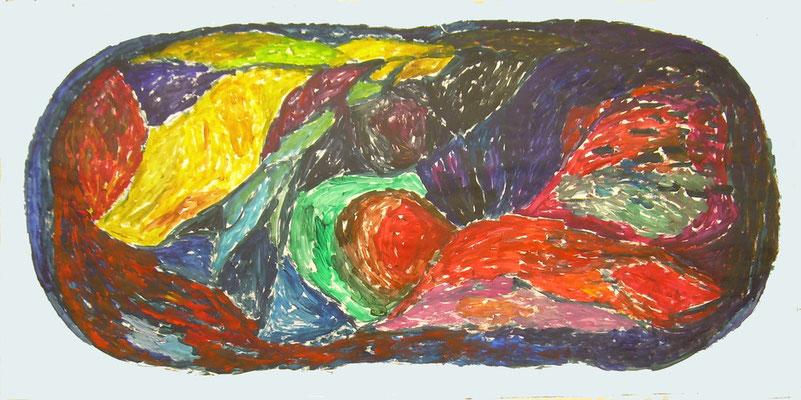 Coloured matter IX, Acryl auf Papier, 200 x 150 cm, Susanne Renner