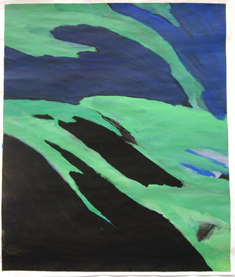 Ohne Titel, 150 x 100 cm, Acryl auf Papier, Susanne Renner