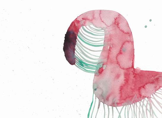 Hold II, Aquarellfarbe auf Papier, 24 x 32 cm, Susanne Renner-Schulz, 2020