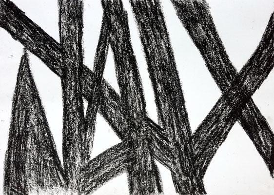 Ohne Titel, 50 x 70 cm, Ölkreide auf Papier, Susanne Renner-Schulz, 2014