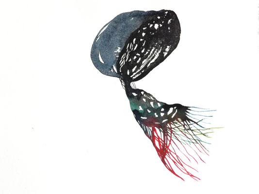 Transporter, 24 x 32 cm, Aquarellfarbe auf Papier, Susanne Renner, 2019