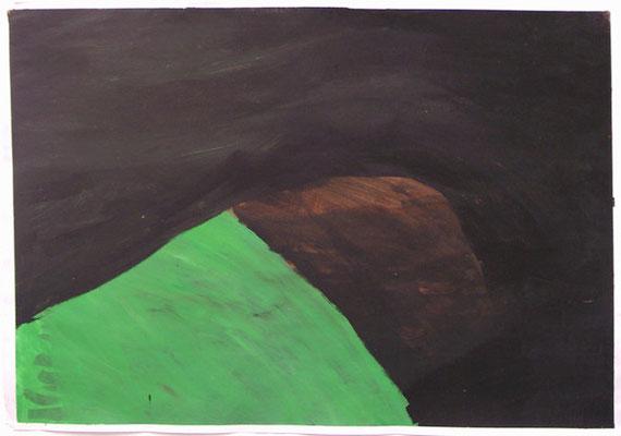 Ohne Titel, 70 x 100 cm, Acryl auf Papier, Susanne Renner