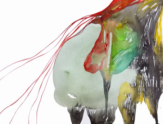 Big Times, Aquarellfarbe auf Papier, 56 x 42 cm, Susanne Renner-Schulz, 2020