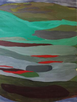 Coloured Matter IX, 180 x 140 cm, Acryl auf Leinwand, Susanne Renner-Schulz