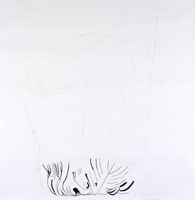 Gründer IX, 150 x 160 cm, Tusche auf Papier, Susanne Renner