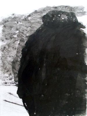 Black Matter, 50 x 70 cm, Tusche auf Papier, Susanne Renner-Schulz, 2014