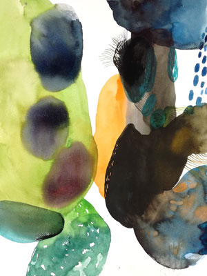 In between, 56 x 42 cm, Aquarellfarbe auf Papier, Susanne Renner, 2019