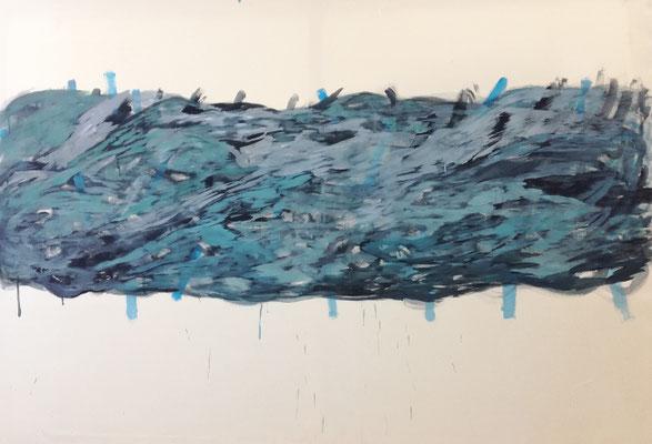 Coloured matter VII, 200 x 140 cm, Acryl auf Leinwand, Susanne Renner