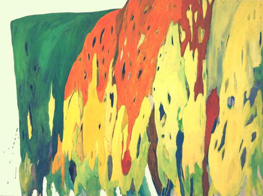Coloured matter V, 120 x 160 cm, Acryl auf Leinwand, Susanne Renner