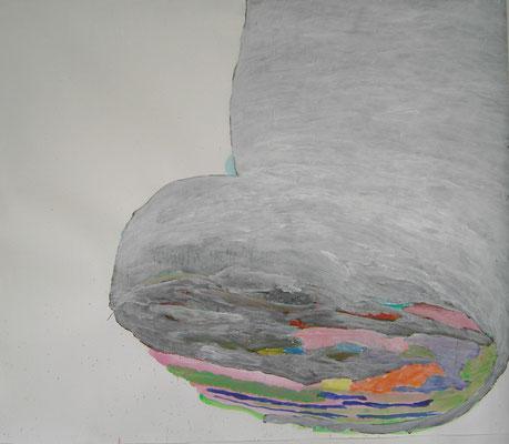 Coloured matter, 120 x 130 cm, Acryl auf Papier, Susanne Renner