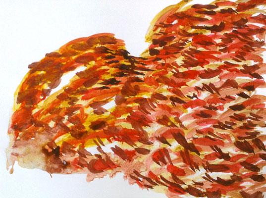 Ohne Titel, 30 x 40 cm, Tusche auf Papier, Susanne Renner, 2015