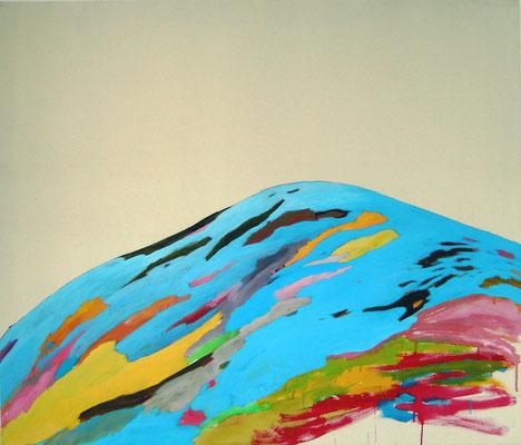 Coloured matter IV, 120 x 140 cm, Acryl auf Leinwand, Susanne Renner