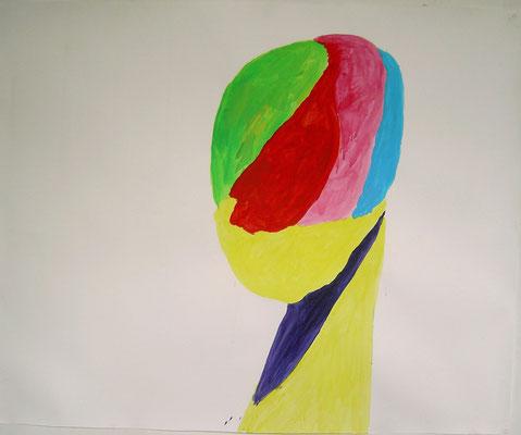 Coloured matter II, 120 x 130 cm, Acryl auf Papier, Susanne Renner