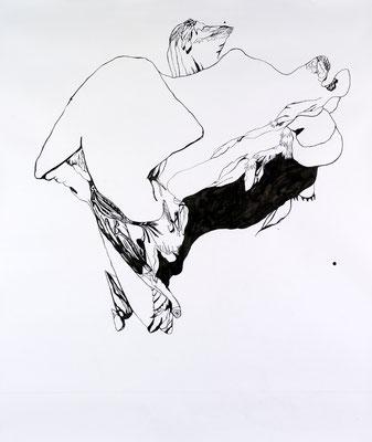 Gründer II, 150 x 180 cm, Tusche auf Papier, Susanne Renner